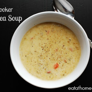 Slow Cooker Split Pea Soup with Ham