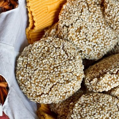 Power Me Up Pumpkin Sesame Cookies