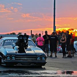 Photo Taken at Tulsa  by Kyle Kramer - Sports & Fitness Motorsports ( car, drag racing, sunset, racing, summer )