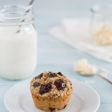 Healthy Banana Coconut Chocolate Chunk Muffins {GF, no added sugar, dairy-free option}