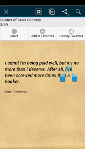 Quotes of Sean Connery - screenshot