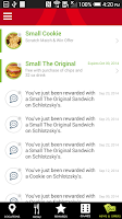 Screenshot of Schlotzsky's Lotz4Me Rewards