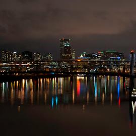 by Lane Weinberg - City,  Street & Park  Skylines