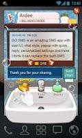 Screenshot of GOSMS WashingRoom Pop ThemeEX