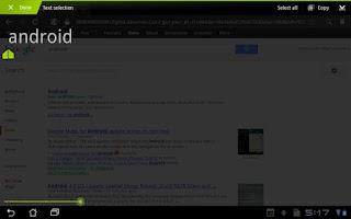 Screenshot of ShareTextPicker