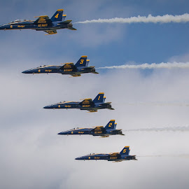 Blue Angels in Line by Darin Mellor - Transportation Airplanes ( offut air force bace, f22, bellevue, nebraska, blue angels, air show )