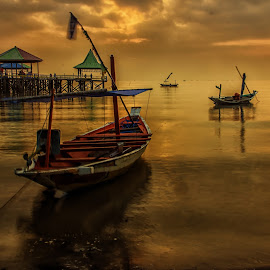 Waiting for by Agus Sudharnoko - Transportation Boats