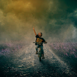 Bersepeda by Musyawir Bepe - Digital Art People ( child, bike, digital )