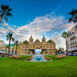 Monte Carlo Casino by Toma Teodor - Buildings & Architecture Public & Historical ( simetry, fisheye, colorful, 8mm, casino, france, monte carlo, nikon, natural, wonderful,  )