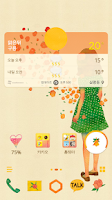 Screenshot of 흩날리다 : 카카오홈 테마