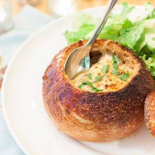 French Onion Soup in a Boule