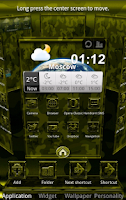Screenshot of Next Launcher MilitaryB Theme