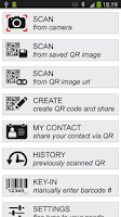 Screenshot of QR & Barcode Reader