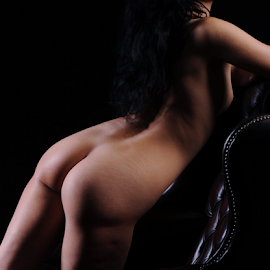 Curves by Vineet Johri - Nudes & Boudoir Artistic Nude ( chair, hotography workshop in london, vkumar, art nude lighting workshop, bottoms, shadows, curves, chiara )