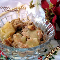 Baked Ginger-Apple Crumble