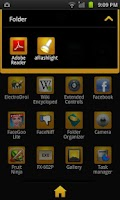 Screenshot of GO Launcher EX Theme BlackGold