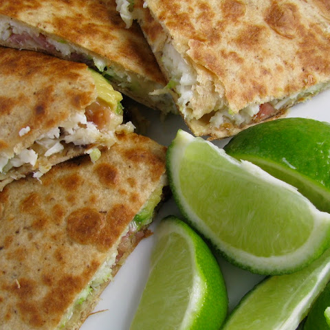Crab Avocado Quesadillas