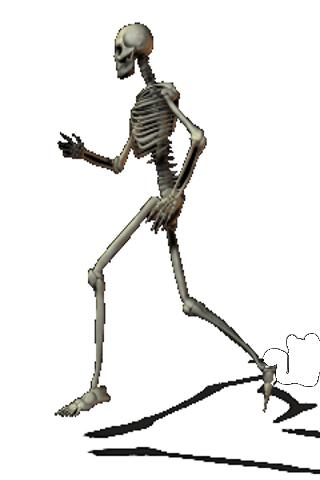 skeleton James running