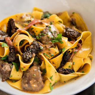 Creamy Chicken Liver Pasta With Wild Morels