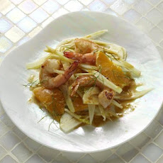 Shrimp with Orange Butter and Fennel and Orange Salad