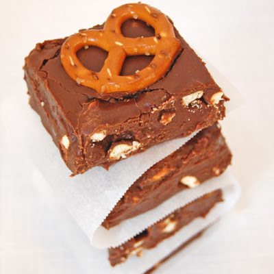 Chocolate Pretzel Fudge