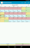 Screenshot of MP Fishing Calendar Lite