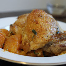 Pan-Cooked Chicken Thighs with Butternut Squash