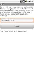 Screenshot of LearnSpanish