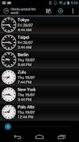 Screenshot of Clocks around the world