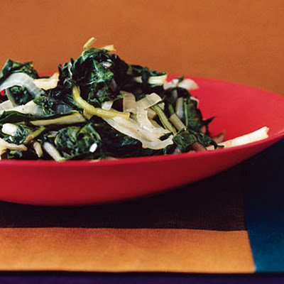 Sauteed Swiss Chard with Onions