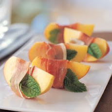 Peaches with Prosciutto and Mint