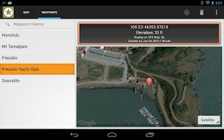 Screenshot of MGRS GPS
