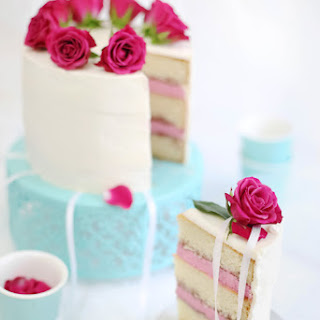 Raspberry and Champagne Layer Cake