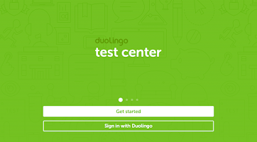Screenshot of Duolingo Test Center