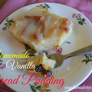 Homemade Vanilla Bread Pudding