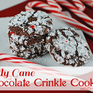 Candy Cane Chocolate Crinkle Cookies and a Pampered Chef Giveaway