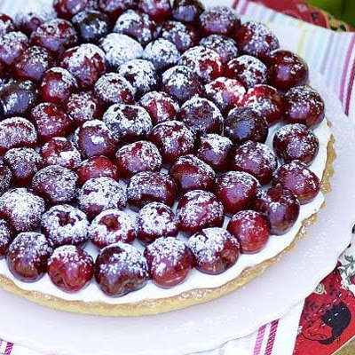 Cherry, Almond & Lemon Mascarpone Tart