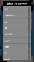 Screenshot of MyRemoconX Universal IR Remote