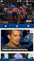 Screenshot of Edmonton Oilers Mobile