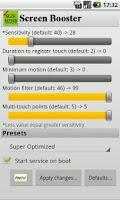 Screenshot of SGS Touchscreen Booster