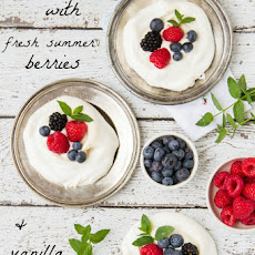 Meringues With Fresh Summer Berries & Vanilla Creme Fraiche