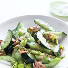 Cucumber and Celery Salad with Tuna