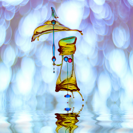 Mary Poppins by Ganjar Rahayu - Abstract Water Drops & Splashes ( macro, highspeed, waterdrop, digital art )