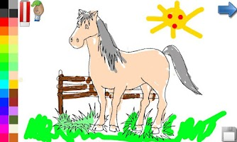 Screenshot of Coloring Book: Horses! FREE
