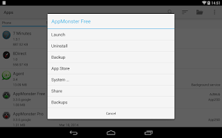 Screenshot of AppMonster Free Backup Restore
