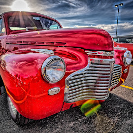 Sunset on Red by Ron Meyers - Transportation Automobiles