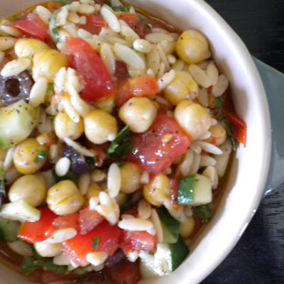 Tomato, Orzo and Chickpea Salad