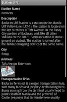 Screenshot of MRT-LRT Train Station Guide