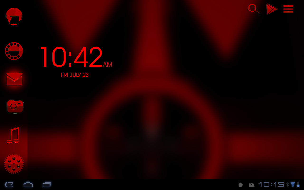 Smart Launcher red GSLTHEME Screenshot 3