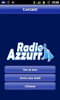 Screenshot of Radio Azzurra
